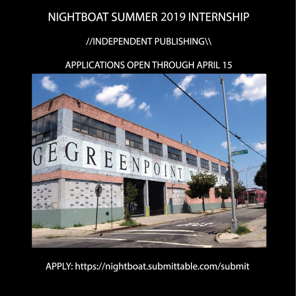 Apply to the 2019 Nightboat Summer Internship! – Nightboat Books