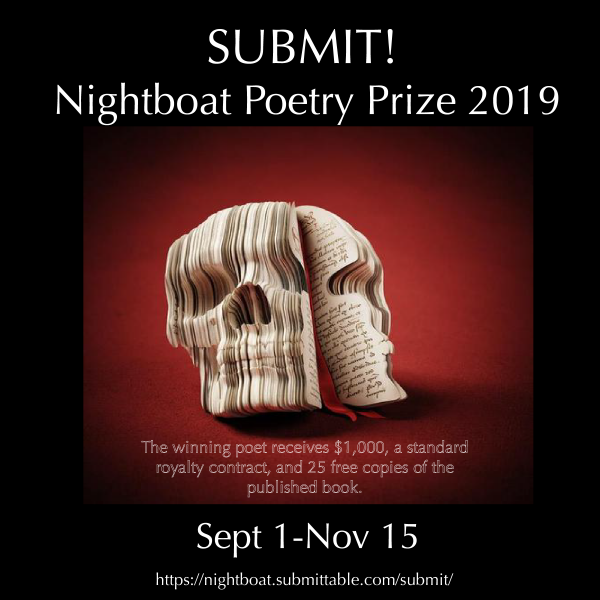 2019 Nightboat Poetry Prize! – Nightboat Books
